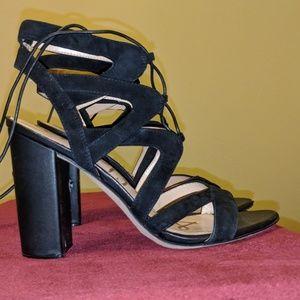 Sam Edelman, size 8 1/2, black suede heels